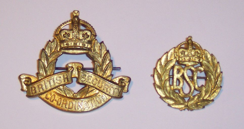 British Security Coordination (BSC) Badges