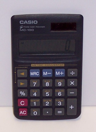 Calculatrice de poche Casio Modèle MC-100