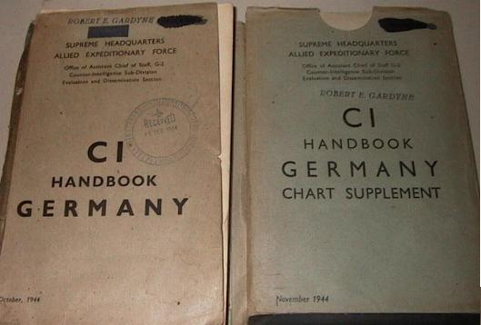 Copie du <i>Counter-Intelligence Handbook - Germany</i> produit par les Britanniques (DGm)