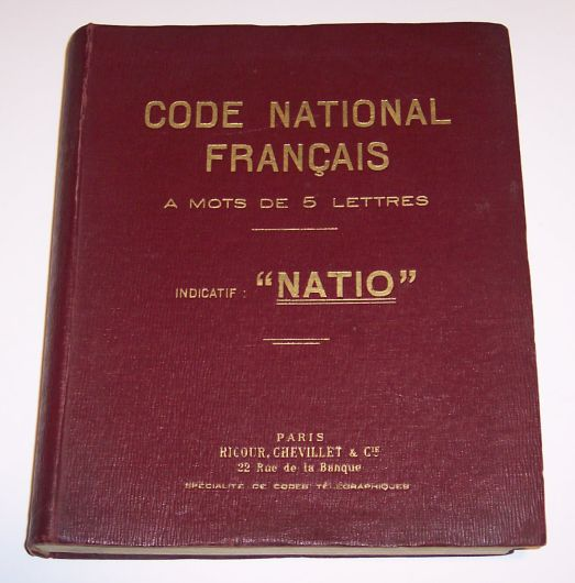 Code National Français
