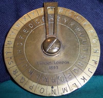 J. Hicks Cipher Disk (1893)
