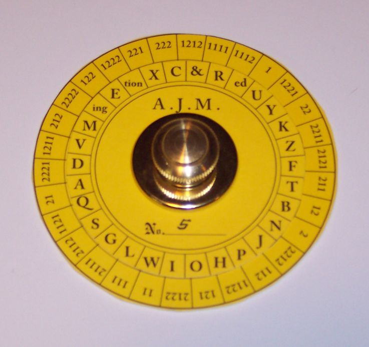 A.J. Myer Cipher Disk