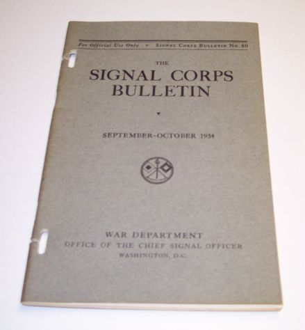 Signal Corps Bulletins 1940 or earlier on cryptography