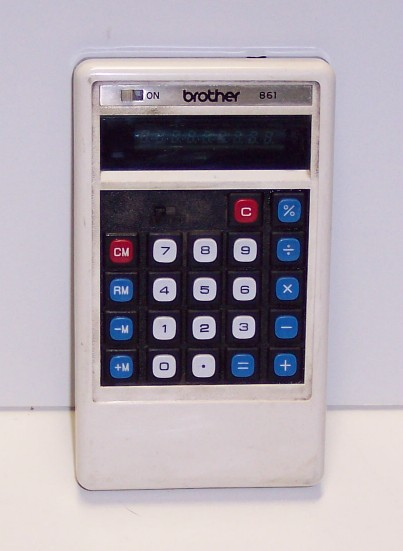Calculatrice de poche Brother Modèle 861