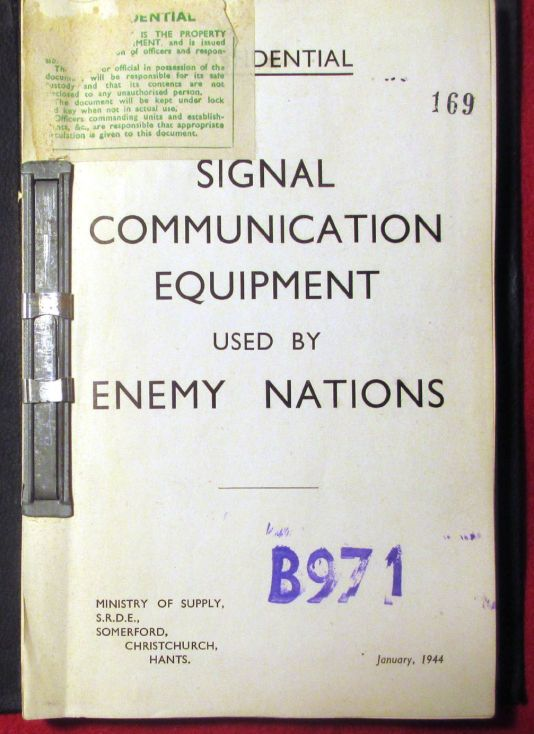 Signal Communication Equipment Used by Enemy Nations (1944)
