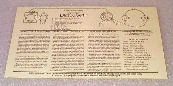 dictograph crusader manual